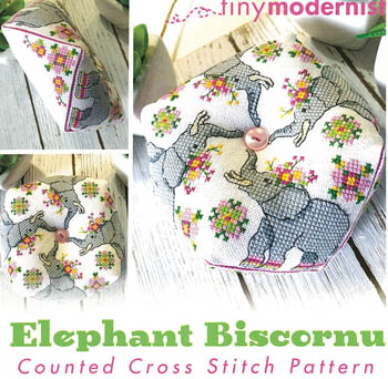 Elephant Biscornu - January