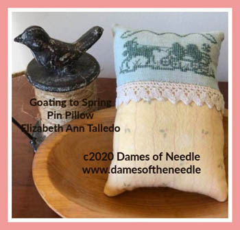 Goating To Spring Pin Pillow
