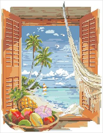 Tropical Vacation Window