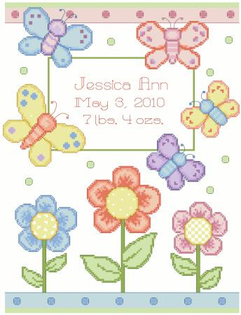 Butterfly Birth Announcement