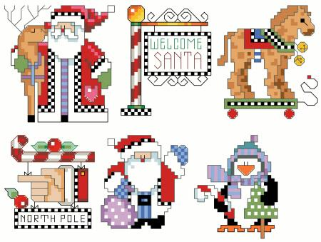 Checkered Ornaments Set 2