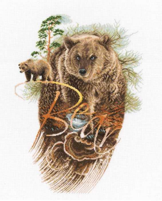 Bear Counted Cross Stitch Kit
