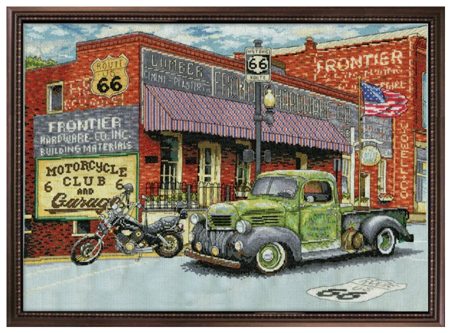 Frontier Hardware Counted Cross Stitch Kit