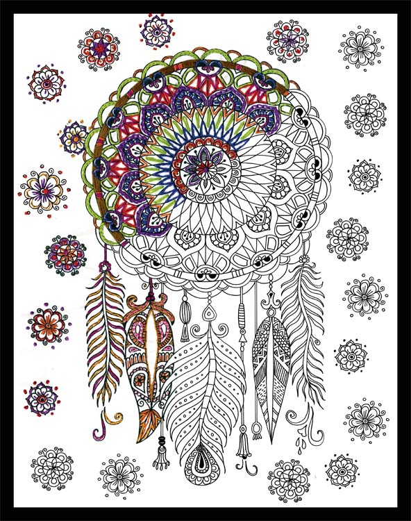 Trendy Dream Catcher Zenbroidery Stamped Embroidery Kit