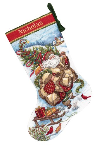 Gold Collection Santa's Journey Stocking Counted Cross Stitch