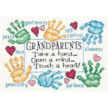 Mini Grandparents Touch A Heart Counted Cross Stitch Kit