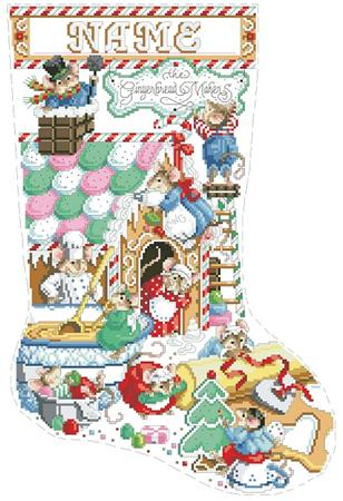Gingerbread Mice Stocking