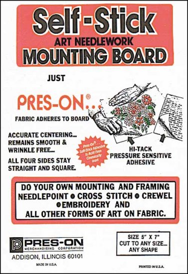 "5"" x 7"" Pres-On Mounting Board"