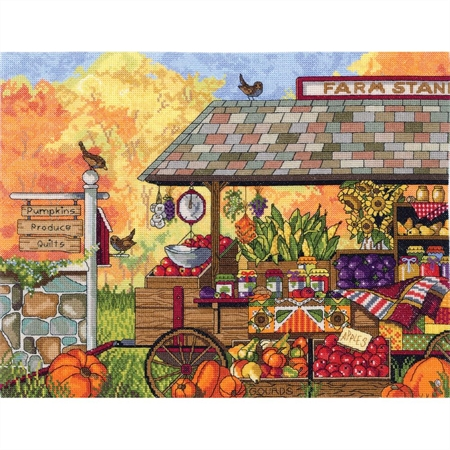 Buck's County Farm Stand Counted Cross Stitch Kit