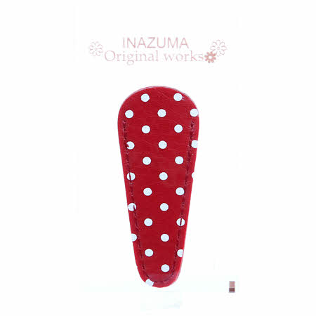 Polka Dot Embroidery Scissors Case - Red