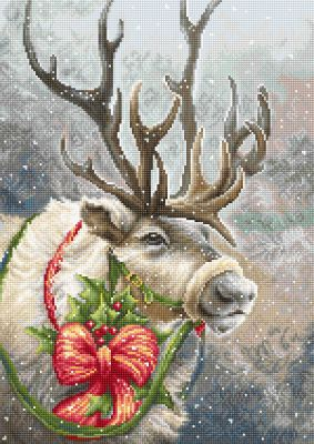 Christmas Deer (25 count canvas)