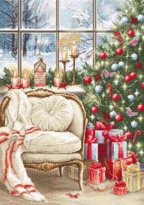 Christmas Interior (25 count canvas)