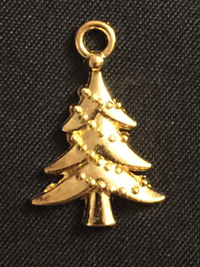 Gold Christmas Tree Charm
