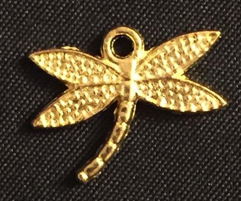 Gold Dragonfly Charm 1