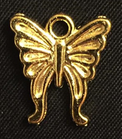 Gold Butterfly Charm 3