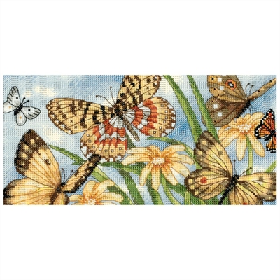Gold Petites Butterfly Vignette Counted Cross Stitch Kit