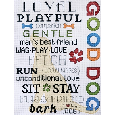 Good Dog Counted Cross Stitch Kit
