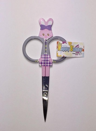 Embroidery Scissors - Grey Bunny