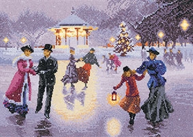 Christmas Skaters by John Clayton Collection