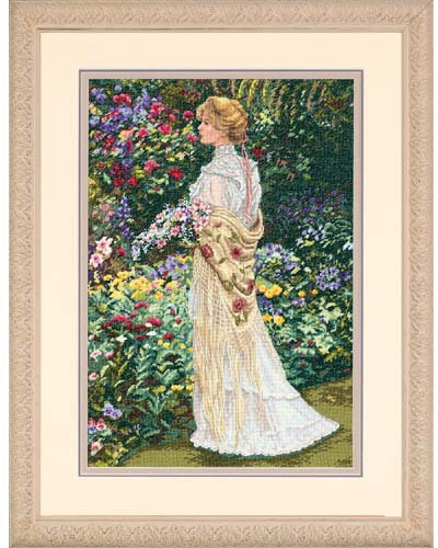 Gold Collection In Her Garden Counted Cross Stitch Kit