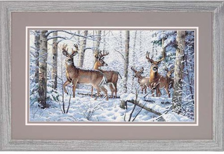Gold Collection Woodland Winter Counted Cross Stitch Kit