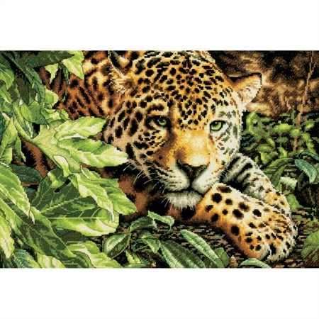 Gold Collection Leopard In Repose Counted Cross Stitch Kit