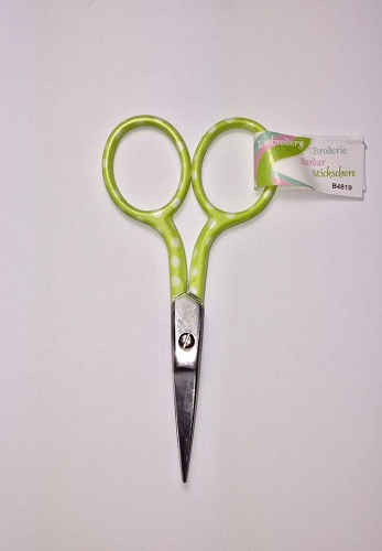Embroidery Scissors - Lime Spotted