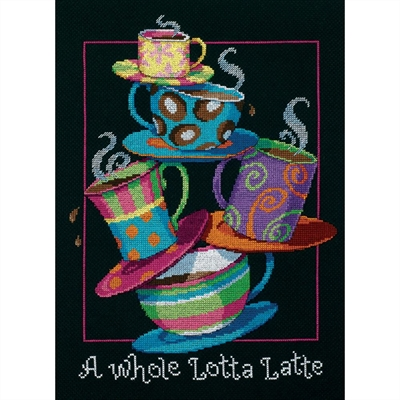 A Whole Lotta Latte Counted Cross Stitch Kit