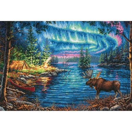Gold Collection Northern Night Counted Cross Stitch Kit