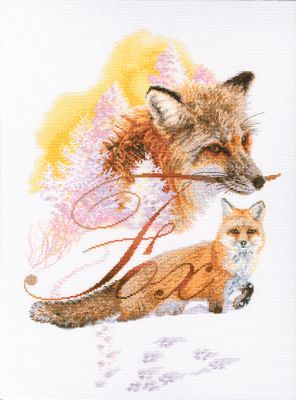 Fox Counted Cross Stitch Kit