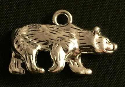 Silver Bear Charm - Click Image to Close