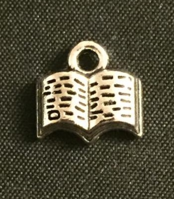 Silver Open Book Charm