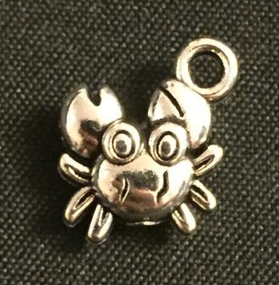 Silver Crab Charm - Click Image to Close