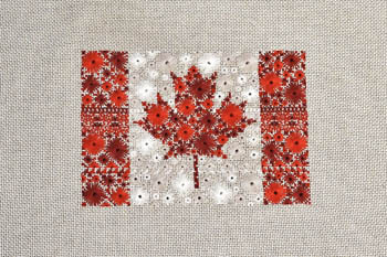 Starburst Flag Of Canada