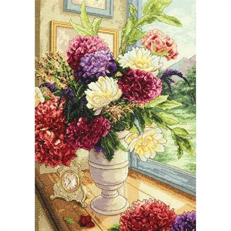Gold Collection Summer Bouquet Counted Cross Stitch Kit