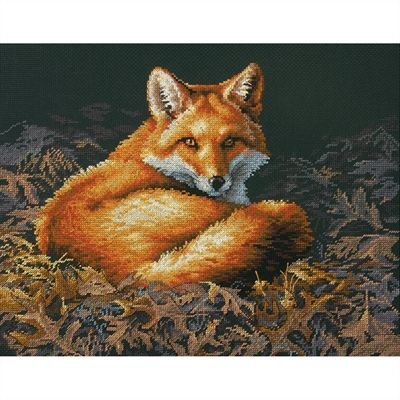 Sunlit Fox Counted Cross Stitch Kit