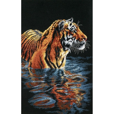 Tiger Chilling Out Counted Cross Stitch Kit
