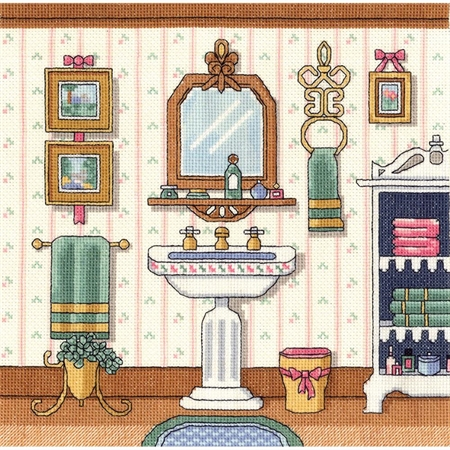 Victorian Sink Counted Cross Stitch Kit