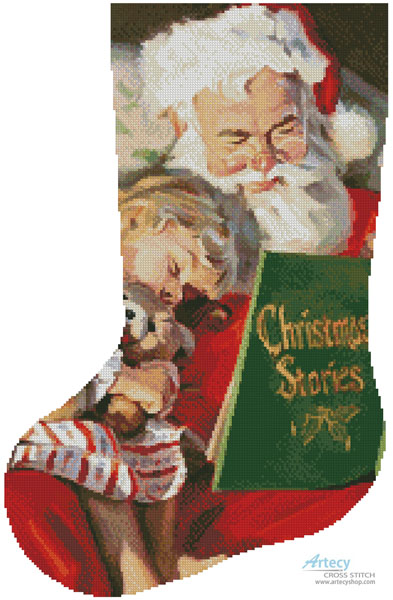 Christmas Stories Stocking (Left)