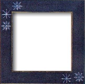 Matte Blue With Snowflakes Frame