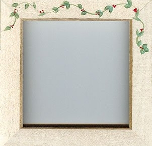 Antique White With Berry Vine Frame