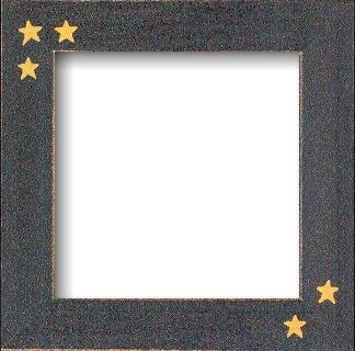 Matte Black With Primitive Stars Frame