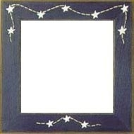 Matte Blue With Stars & Stitches Frame