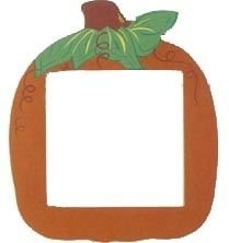 Orange Pumpkin Frame