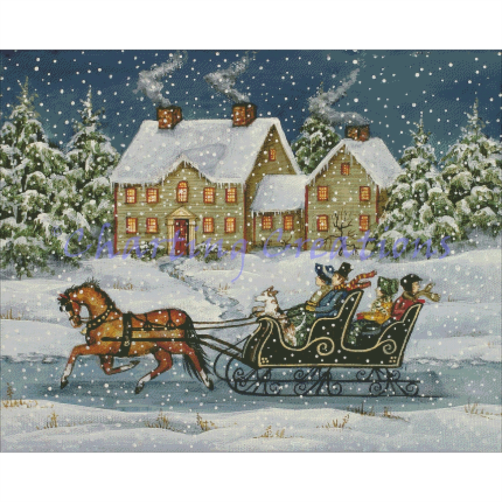 Fast Evening Sleigh Ride