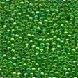 00167 Christmas Green Glass Seed Beads