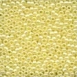 02002 Yellow Creme Glass Seed Beads