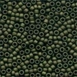 03014 Matte Olive Antique Glass Beads