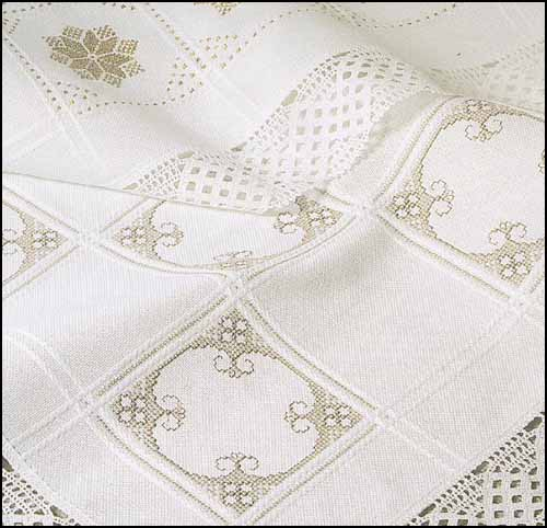 White Cotton Anne Cloth Afghan - 18ct