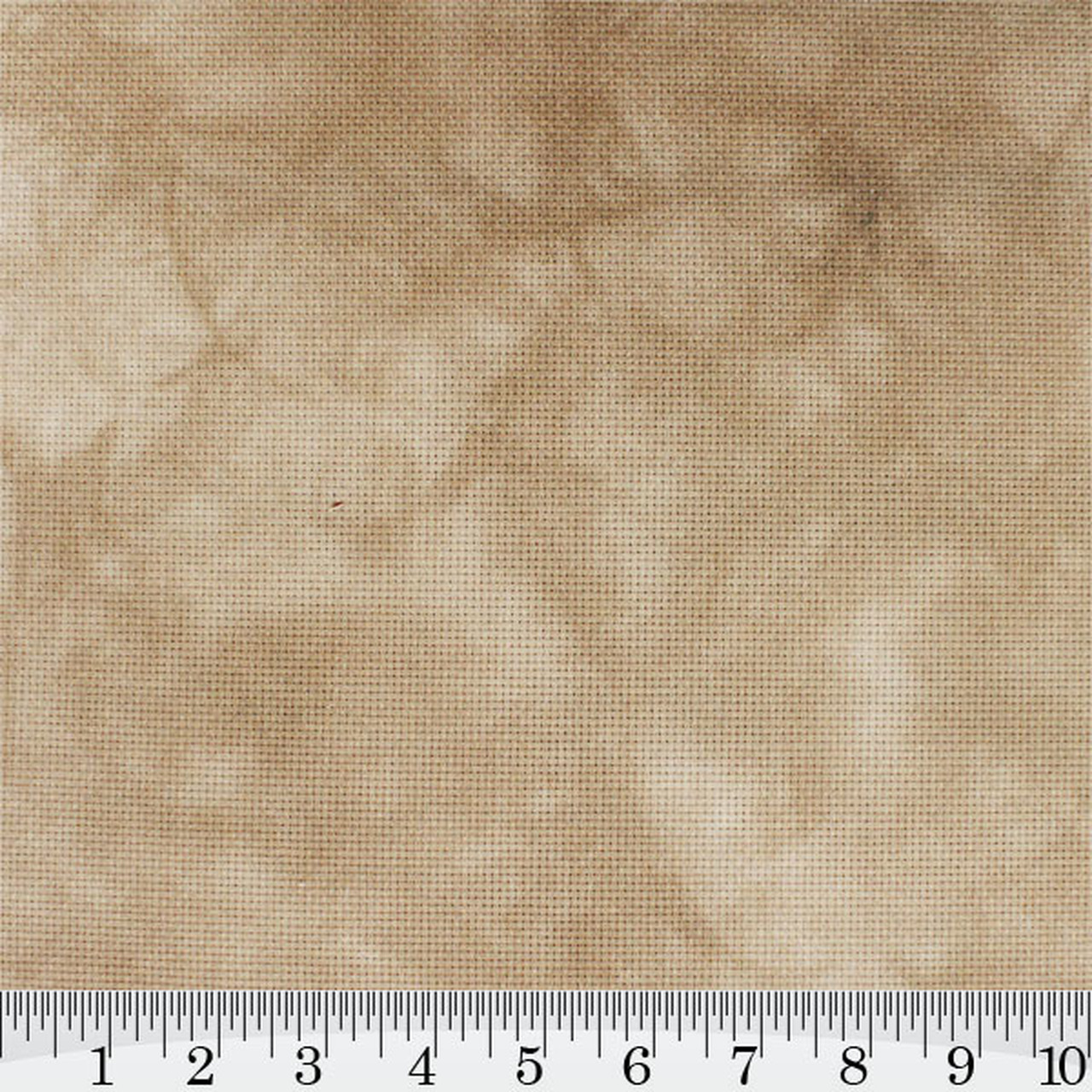 Cafe Au Lait Hand Dyed Effect Cross Stitch Fabric